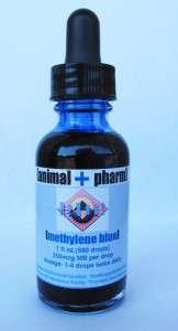 A bottle of methylene blue
