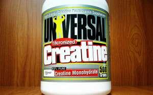 bottle of universal micronized creatine