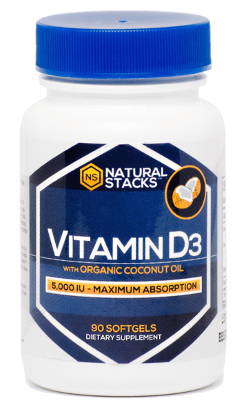 vitamin d3 with organic coconut oil - natural stacks nootropics