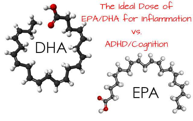 The Ideal Dose of EPA/DHA for Inflammation vs. ADHD/Cognition