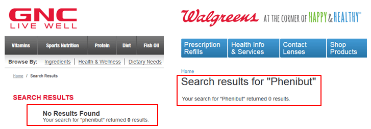 image showing where to buy phenibut at gnc walmart and cvs