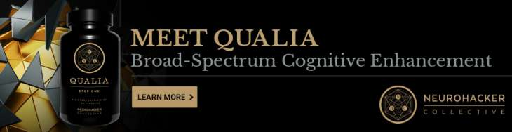 banner of my review of qualia showing where to get it