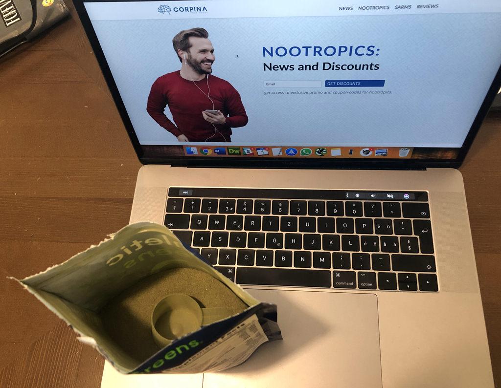 Athletic Greens powder in a bag